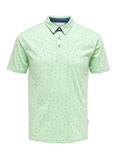 Only & Sons Polo ONSLIAM SS POLO TEE 22012573 Grayed Jade