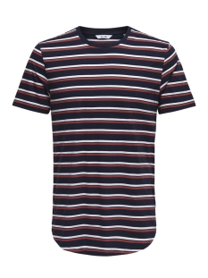 Only & Sons T-shirt onsPALATINE SS LONGY TEE 22013137 Dress Blues