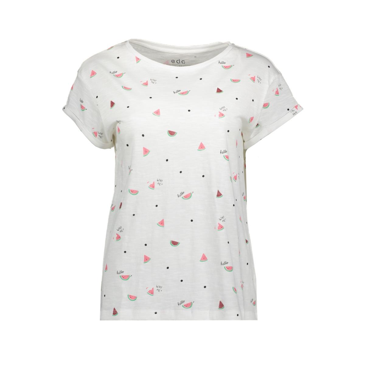 slub jersey shirt met print 059cc1k020 edc t-shirt c111