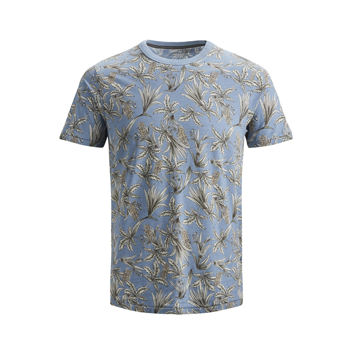 jprcaleb blu. tee ss crew neck 12152276 jack & jones t-shirt faded denim