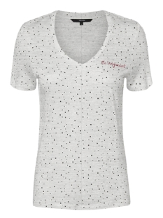 Vero Moda T-shirt VMTANJA SS TEE BOX 10208820 Light Grey Melange/BLACK DOTS