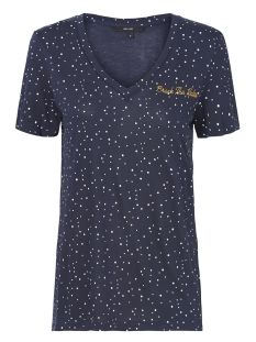 Vero Moda T-shirt VMTANJA SS TEE BOX 10208820 Night Sky/SNOW WHITE