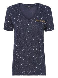 vmtanja ss tee box 10208820 vero moda t-shirt night sky/snow white