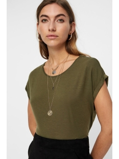vmava plain ss top ga color 10195724 vero moda t-shirt ivy green