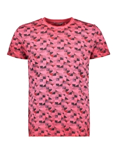 NO-EXCESS T-shirt ALL OVER PRINTED TSHIRT 90350413 182 DK CHERRY