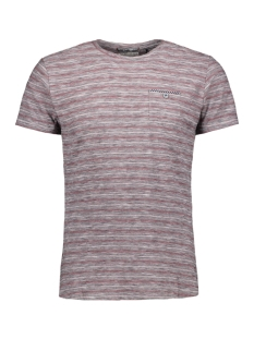 NO-EXCESS T-shirt STRIPED TSHIRT 90350451 182 DK CHERRY