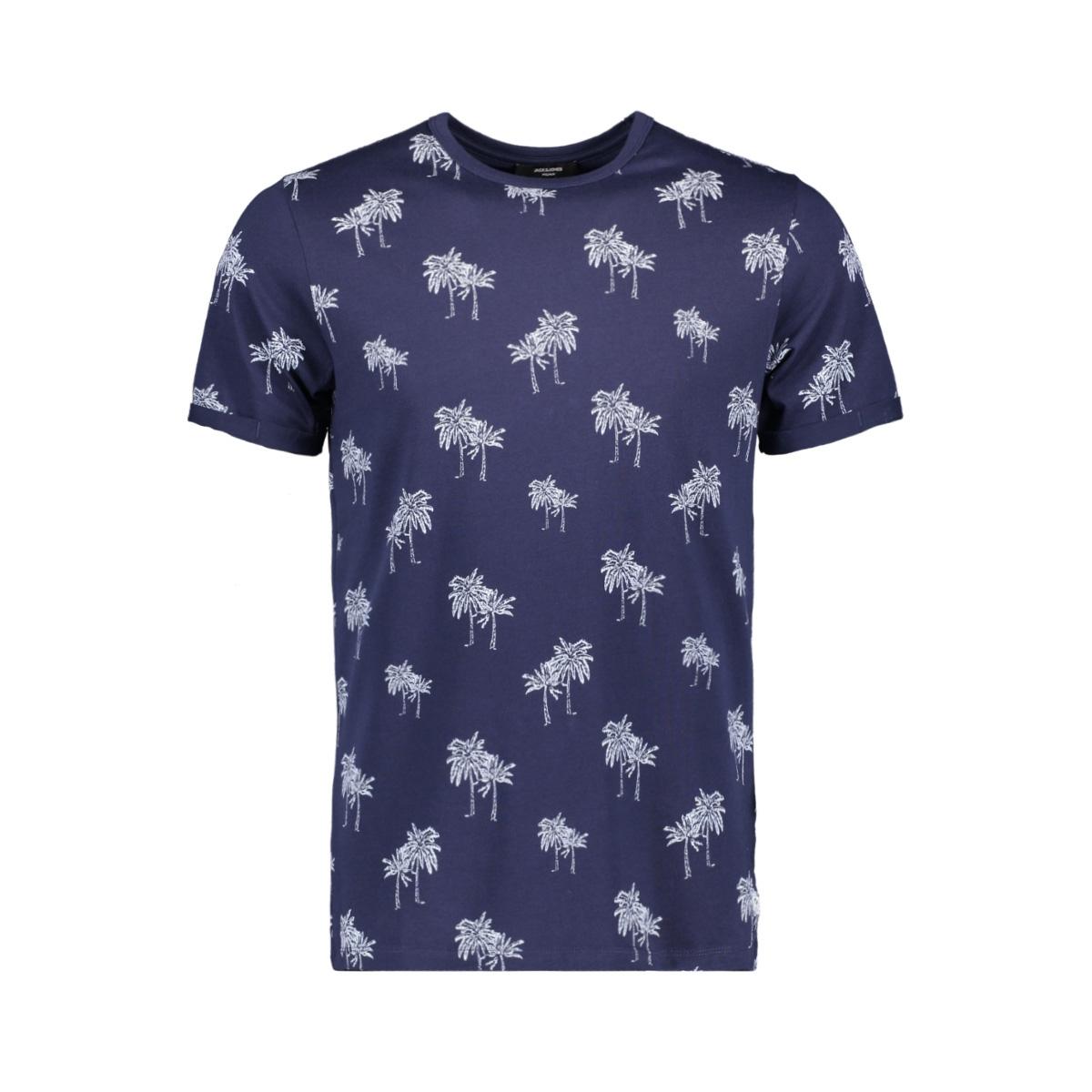 jprslam bla. tee ss crewneck 12153820 jack & jones t-shirt maritime blue/slim fit