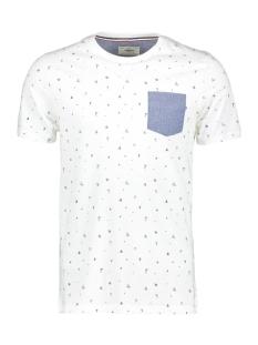 Produkt T-shirt PKTGMS SHORE AOP TEE SS 12153664 Cloud Dancer