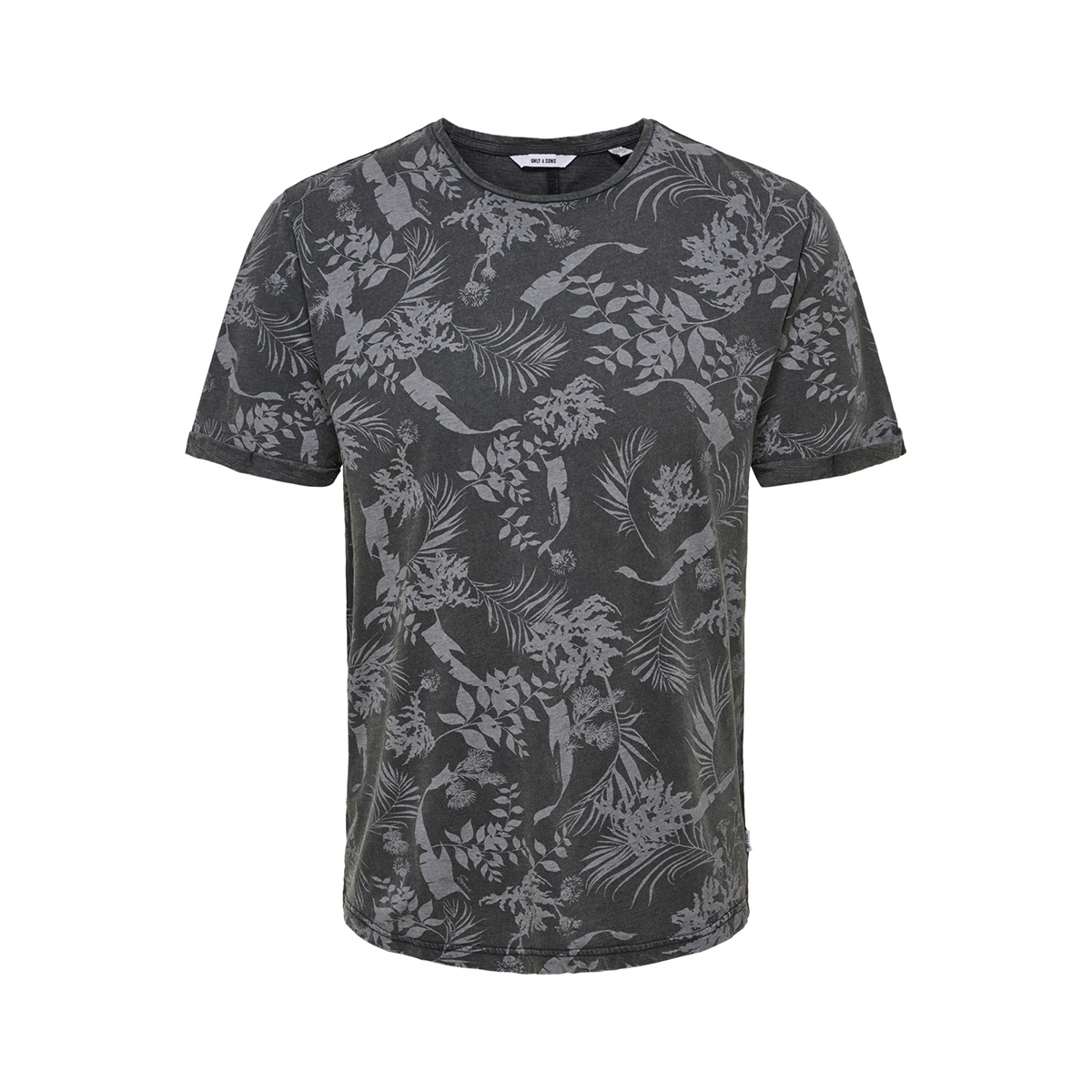 onspecos ss aop tee 22013199 only & sons t-shirt black