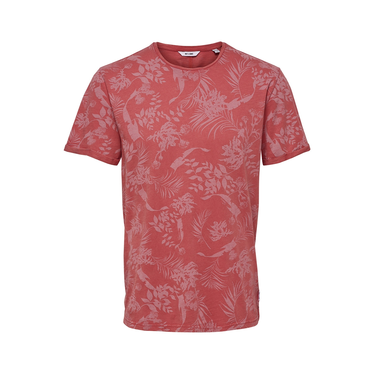 onspecos ss aop tee 22013199 only & sons t-shirt cranberry