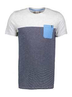 jcosect tee ss crew neck 12152159 jack & jones t-shirt white melange
