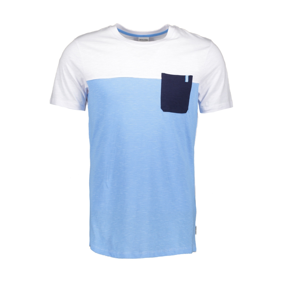 jcosect tee ss crew neck 12152159 jack & jones t-shirt white