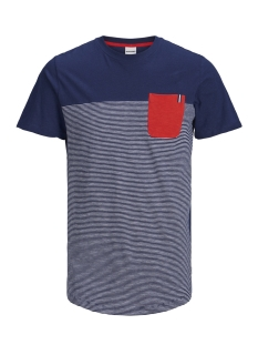 jcosect tee ss crew neck 12152159 jack & jones t-shirt maritime blue