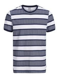 jcoraf tee ss crew neck 12152168 jack & jones t-shirt maritime blue/slim