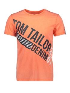 t shirt met tekst 1010031xx12 tom tailor t-shirt 15303