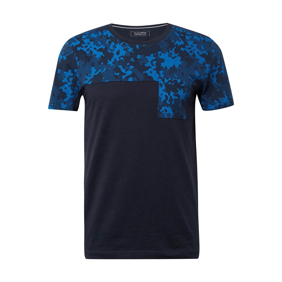 gestreept tshirt met print 1010033xx12 tom tailor t-shirt 10668