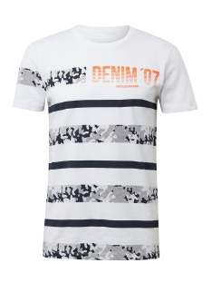 Tom Tailor T-shirt GESTREEPT TSHIRT MET PRINT 1010033XX12 20000