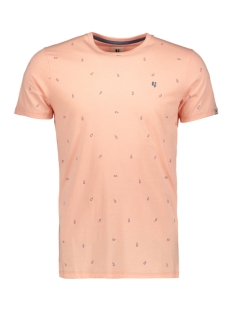 Garcia T-shirt T SHIRT MET ALLOVER PRINT E91006 3307 SALMON