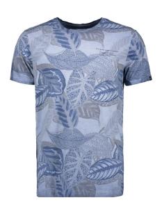 Garcia T-shirt T SHIRT MET TROPISCHE PRINT E91007 3263 AIRFORCE BLUE