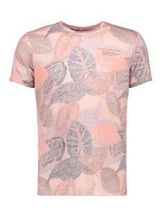 Garcia T-shirt T SHIRT MET TROPISCHE PRINT E91007 3307 SALMON