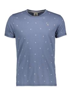 Garcia T-shirt TSHIRT MET ALLOVER PRINT E91006 3263 AIRFORCE BLUE