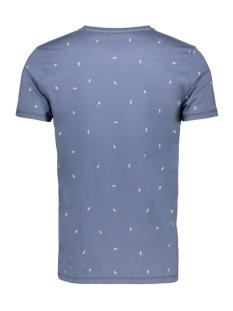 t shirt met allover print e91006 garcia t-shirt 3263 airforce blue