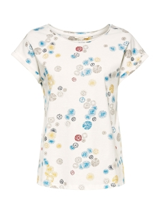 Esprit T-shirt SHIRT MET PRINT EN OMGESLAGEN MOUWEN 059EE1K044 E110