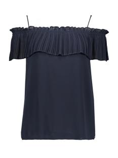 donkerblauw off shoulder shirt e90001 garcia t-shirt 292 dark moon