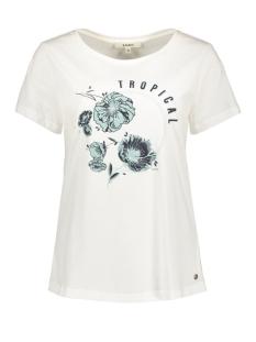 Garcia T-shirt WIT T SHIRT MET OPDRUK E90003 53 OFF WHITE