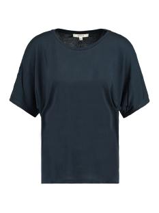 donkerblauw open gewerkte schouder t shirt e90012 garcia t-shirt 292 dark moon