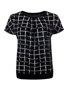 Dayz T-shirt STEFFIE SHIRT BLACK CHECK