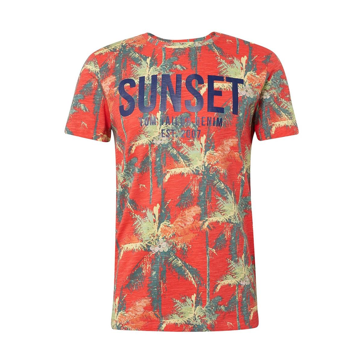 t shirt met bloemenprint 1011372xx12 tom tailor t-shirt 18170