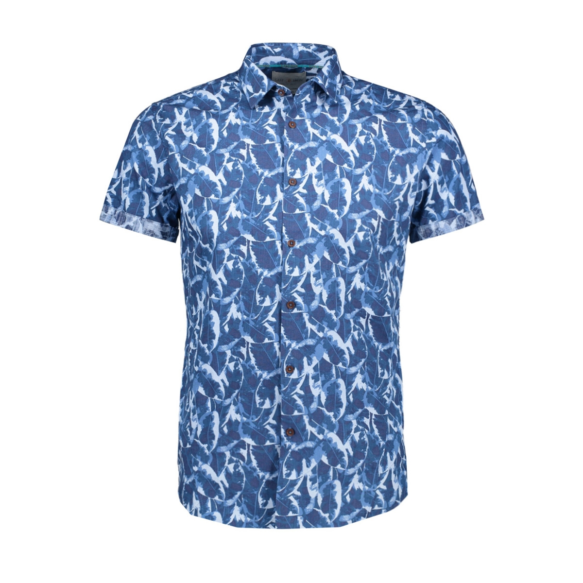 rubber plant print shirt csis194632 cast iron overhemd 5307