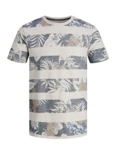 Jack & Jones T-shirt JPRRISE BLU. TEE SS CREW NECK 12152810 White Melange