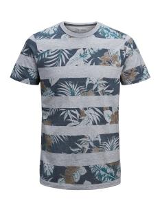 Jack & Jones T-shirt JPRRISE BLU. TEE SS CREW NECK 12152810 Faded Denim/Melange