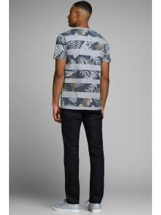 jprrise blu. tee ss crew neck 12152810 jack & jones t-shirt faded denim/melange