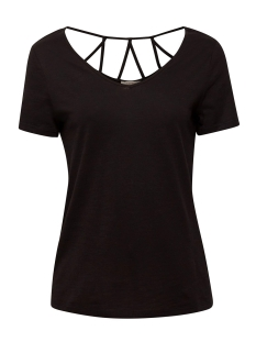 Esprit T-shirt SHIRT MET VERSIERD ACHTERPAND 059EE1K024 E001