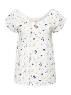Esprit T-shirt SLUB JERSEY SHIRT MET PRINT 059EE1K033 E110