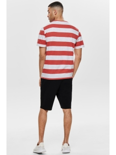 onspatterson ss reg tee 22013051 only & sons t-shirt cranberry