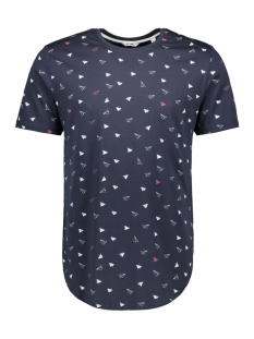 onsgene ss aop tee re 22010350 only & sons t-shirt blue nights