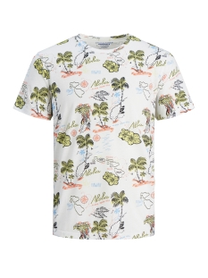 Jack & Jones T-shirt JORMOLOKAI TEE SS CREW NECK 12152656 Cloud Dancer/SLIM
