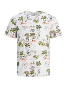 jormolokai tee ss crew neck 12152656 jack & jones t-shirt cloud dancer/slim