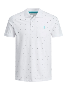 Jack & Jones Polo JCOAND POLO SS 12155393 White/SLIM