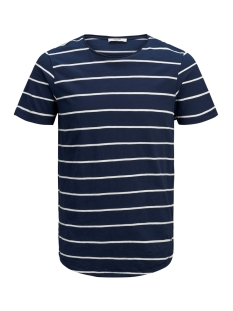 Jack & Jones T-shirt JPRDEREK STRIPE BLA  TEE SS CREW NE 12152837 Maritime Blue/SLIM FIT