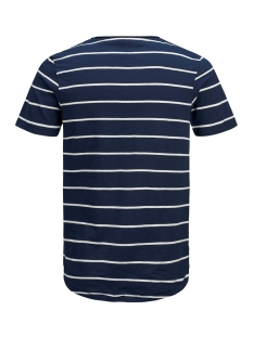jprderek stripe bla  tee ss crew ne 12152837 jack & jones t-shirt maritime blue/slim fit