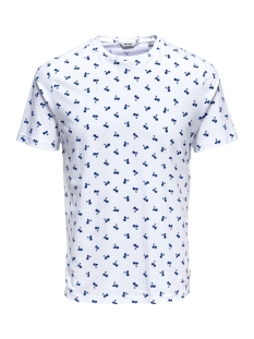 Only & Sons T-shirt onsPINEAPPLE SS DITSY FITTED TEE 22013251 White