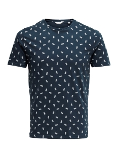 Only & Sons T-shirt onsPINEAPPLE SS DITSY FITTED TEE 22013251 Dress Blue