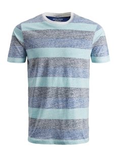 jorsider tee ss crew neck 12152722 jack & jones t-shirt aqua sky/slim