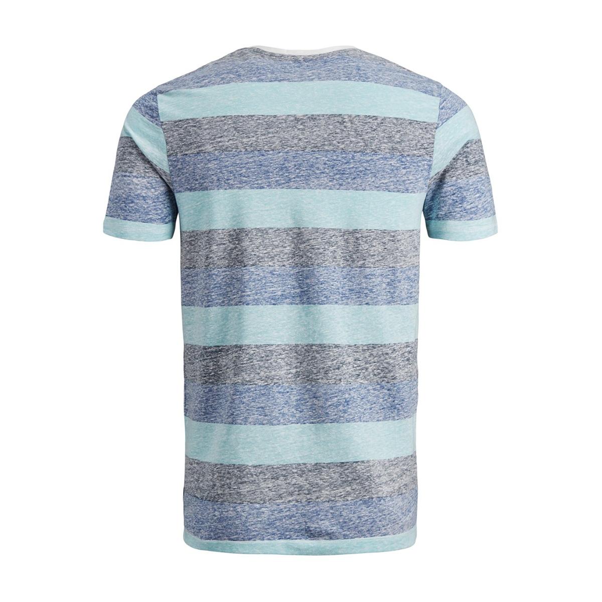 jorsider tee ss crew neck 12152722 jack & jones t-shirt aqua sky/slim