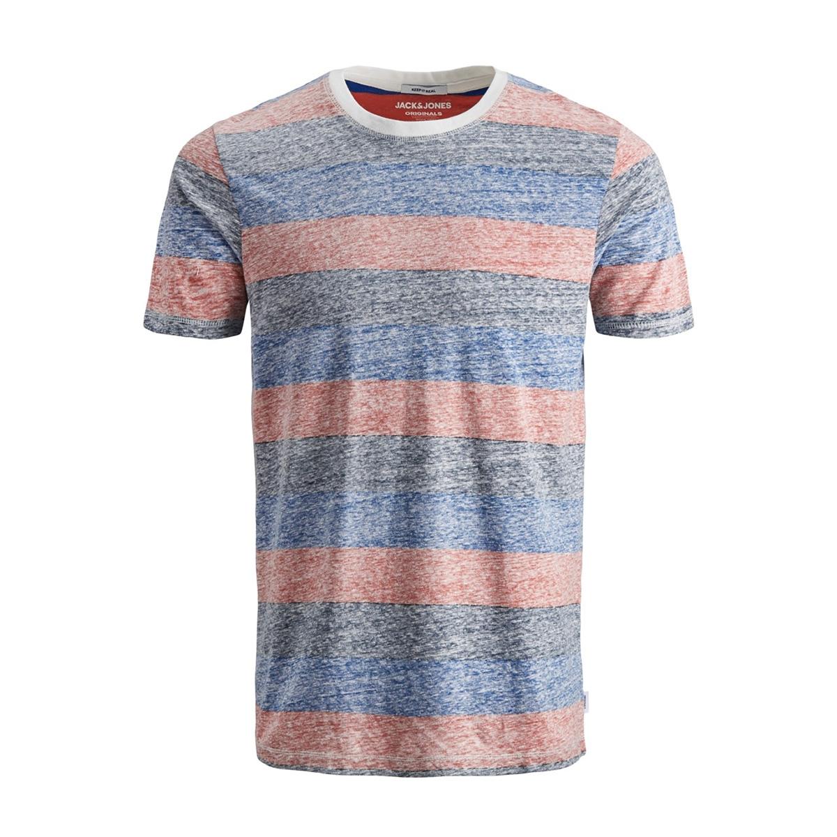 jorsider tee ss crew neck 12152722 jack & jones t-shirt fiery red/slim